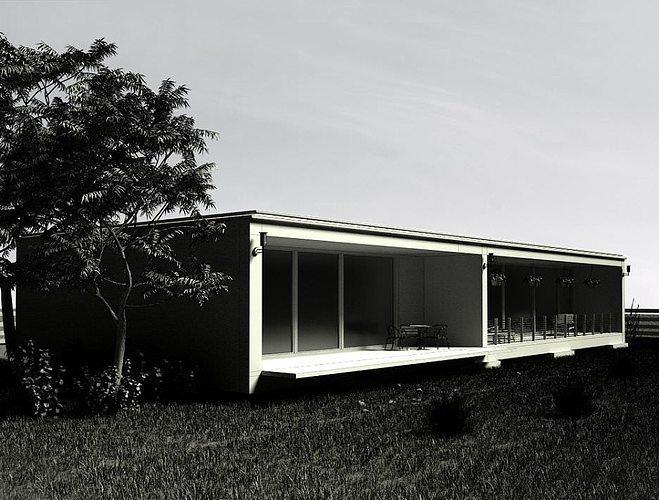 3d model modern villa outside of the city cgtrader for Model villa moderne