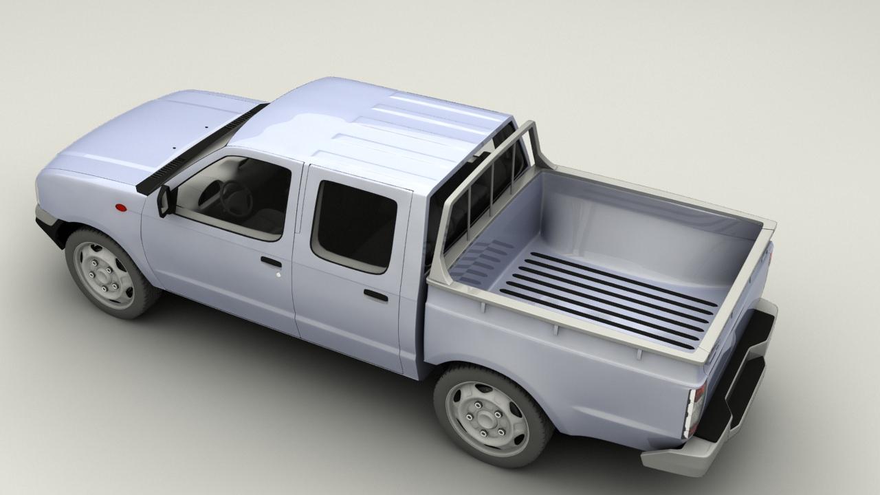 nissan pick up d22 3d model game ready max obj 3ds fbx dxf dwg. Black Bedroom Furniture Sets. Home Design Ideas