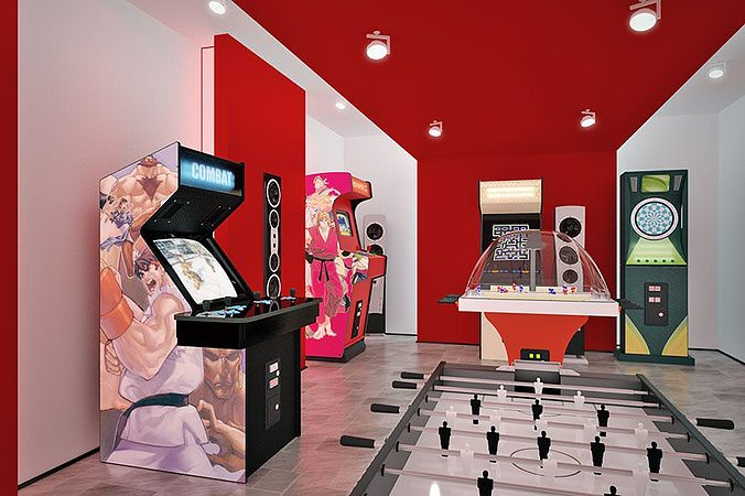 game machines collection 3d model  1