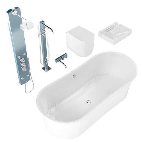 Excellent Eurolegno Bathroom Fixtures 3D Model