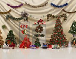 3D Christmas Decorations Collection