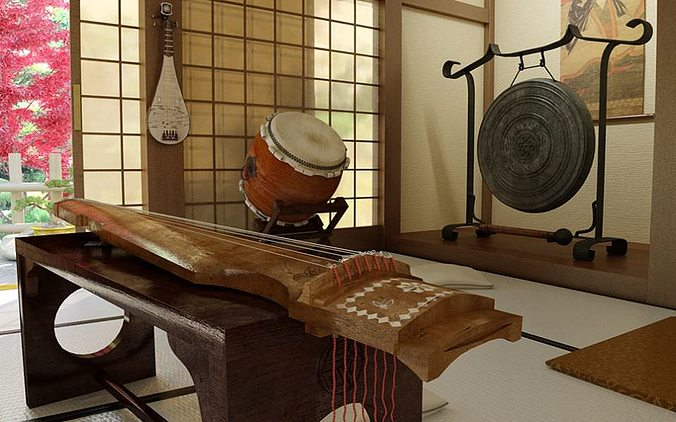 musical instruments collection 3d model max obj mtl fbx mxs 1