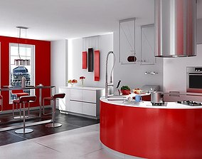3D model Kitchen Furniture Collection