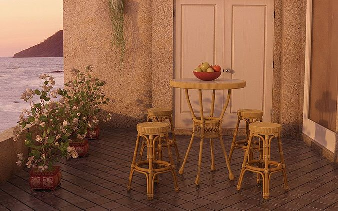 realistic restaurant furniture collection 3d model  1