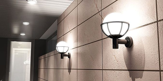 external lamps collection 3d model obj 1