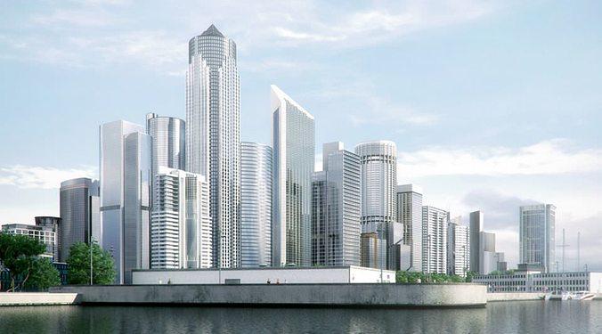 skyscrapers collection 3d model max obj 3ds fbx mxs 1