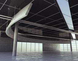 Spacious Parking Lot Garage 3D model