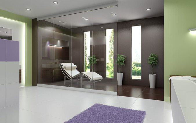 modern spa room 3d model max 1