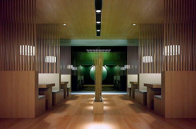 D model modern restaurant interior cgtrader