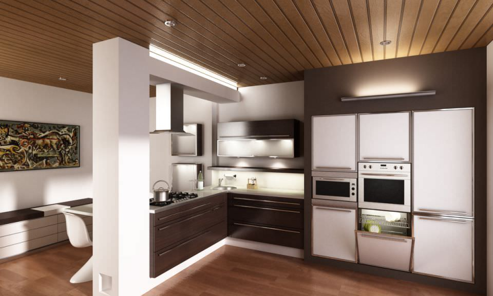 Kitchen 3d Model modern kitchen scene 3d model interior | cgtrader
