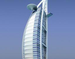 hotel skyscraper 3d model