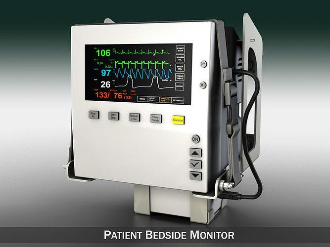 patient monitor 3d model obj mtl 3ds fbx c4d lwo lw lws 1