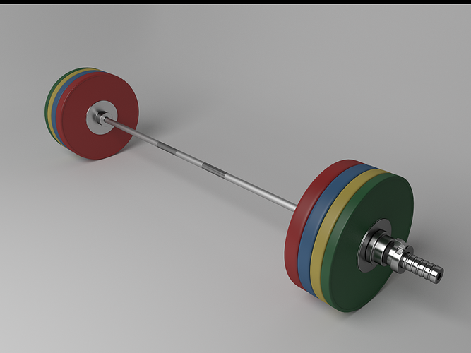 olympic barbell 3d model obj mtl 3ds fbx blend 1