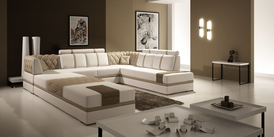 Modern Living Room With Big Fancy