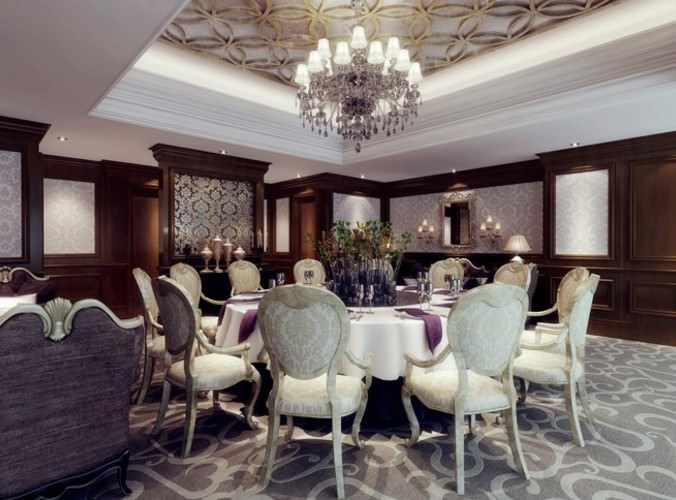 3d model furniture luxury dining room cgtrader for Dining room 3d max model