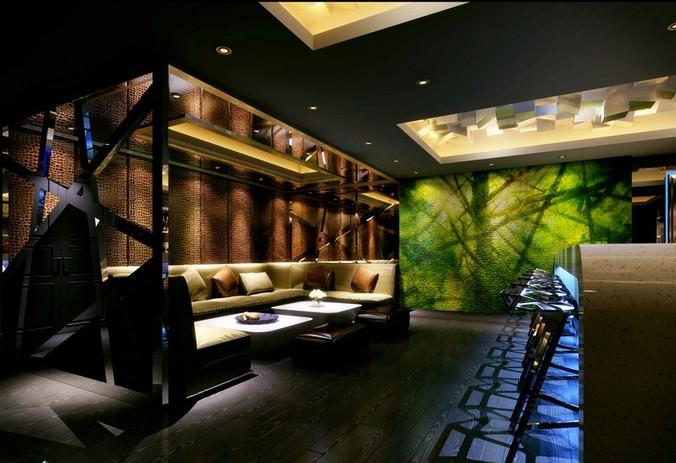 D luxury bar lounge room cgtrader