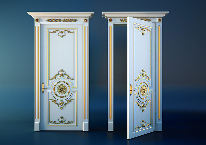 Good Classic Door 3D Model