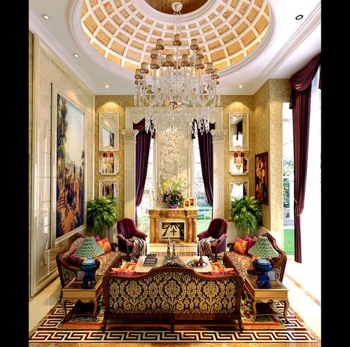 Luxurious Versace Living Room 3d Model Max