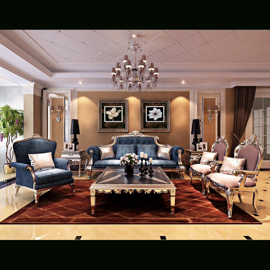 Royal Living Room Furniture. royal living room 3d model max 1  Royal Living Room 3D CGTrader