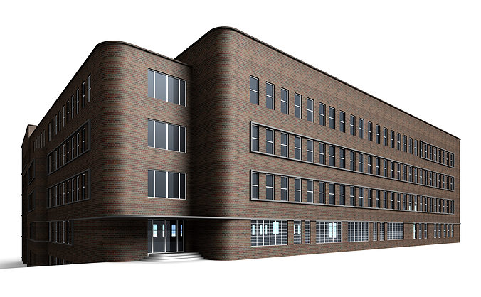 brick house 3d model max 3ds c4d dae skp 1