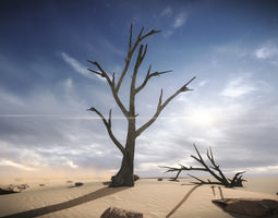 free 3 dead trees sample models low-poly