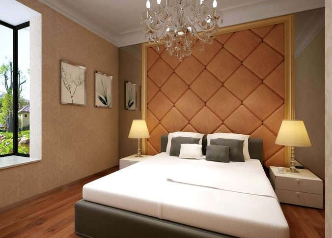 3d Modern Bed Room With White Bed Cgtrader