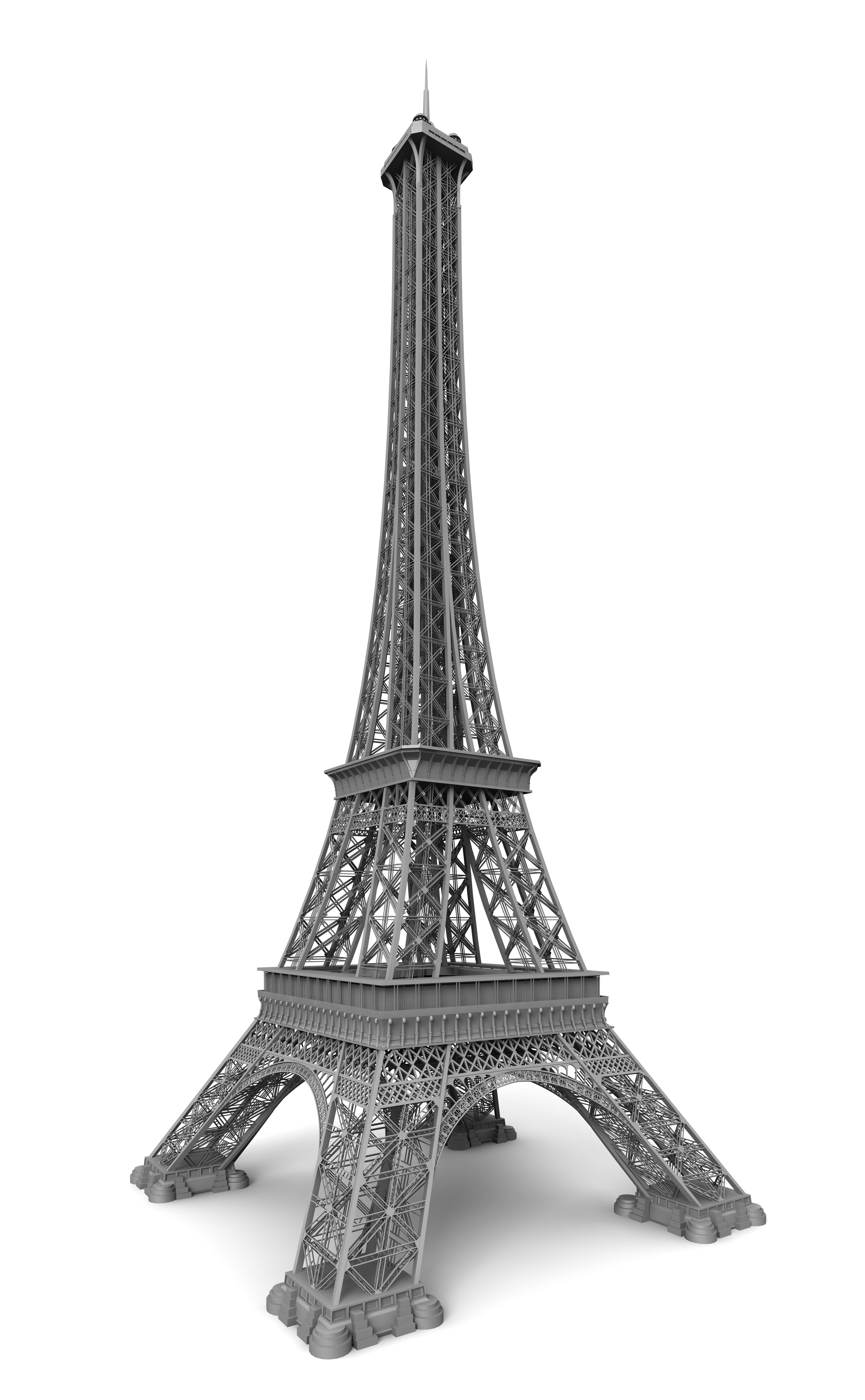 Eiffel Tower Paris 3D Model 3DS C4D DAE SKP | CGTrader.com