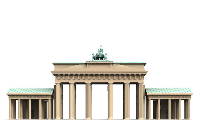 3d brandenburg gate berlin cgtrader. Black Bedroom Furniture Sets. Home Design Ideas
