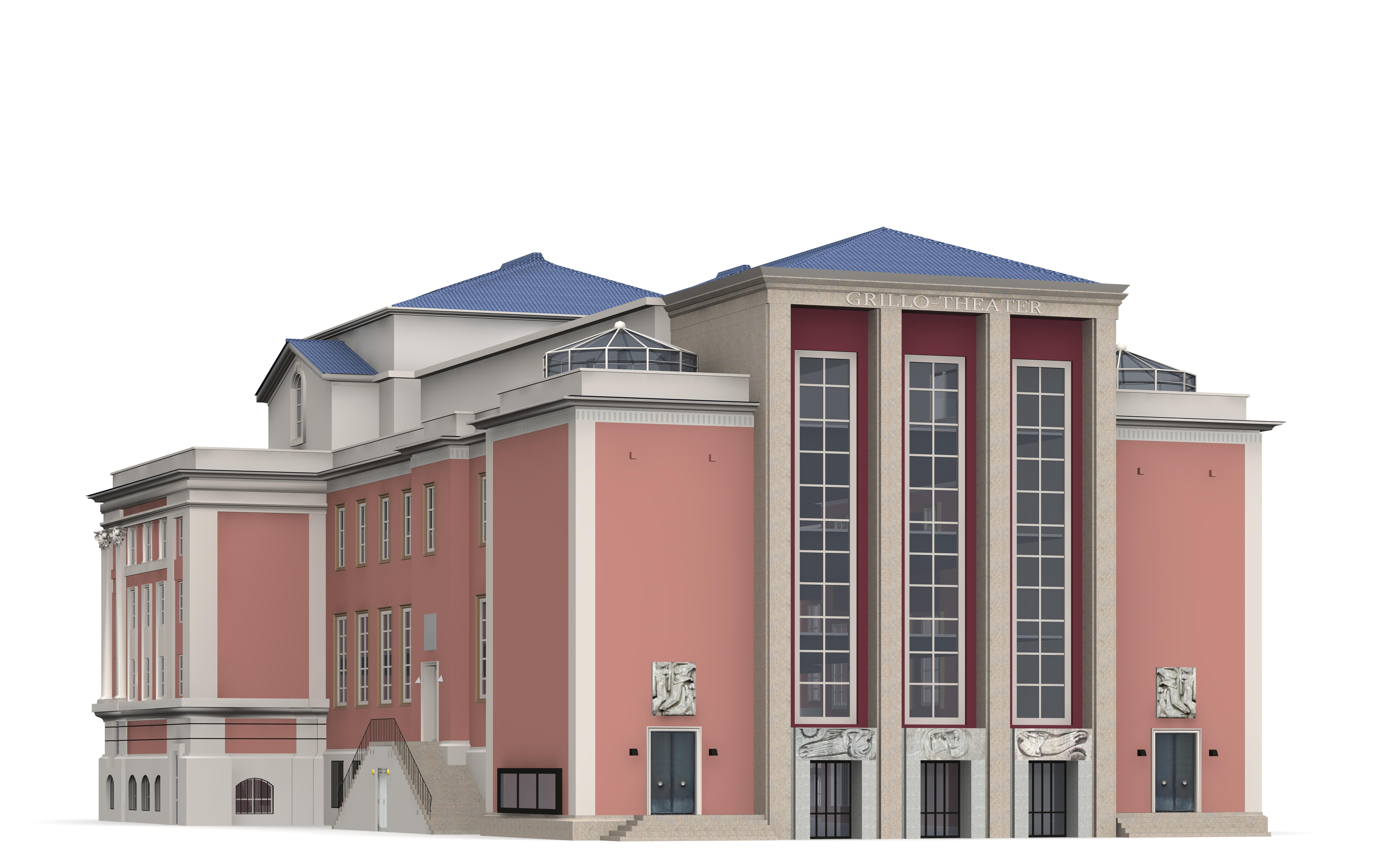 Grillo theatre 3d model max 3ds c4d dae skp for Theatre model