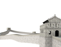 Great Wall of China 3D Model