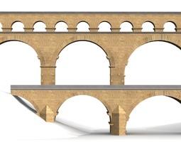 3D model Aqueduct Pont du Gard