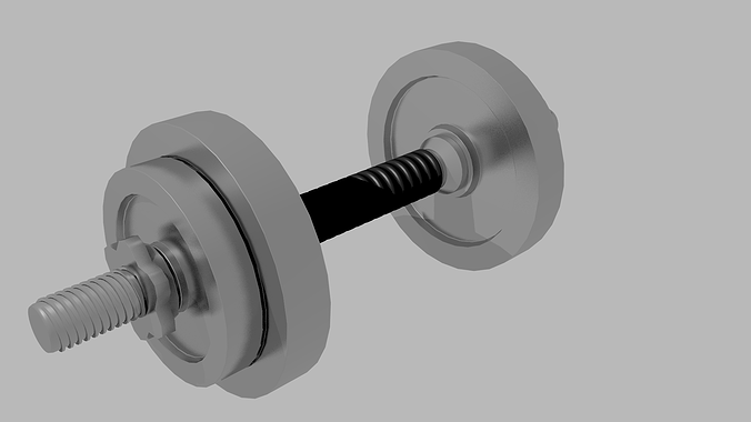 dumbbell 3d model obj mtl blend 1