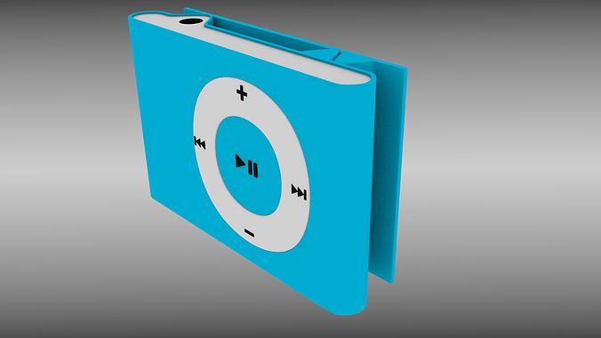ipod shuffle 3d model obj mtl fbx blend 1