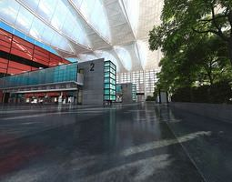 3d spacious shopping mall