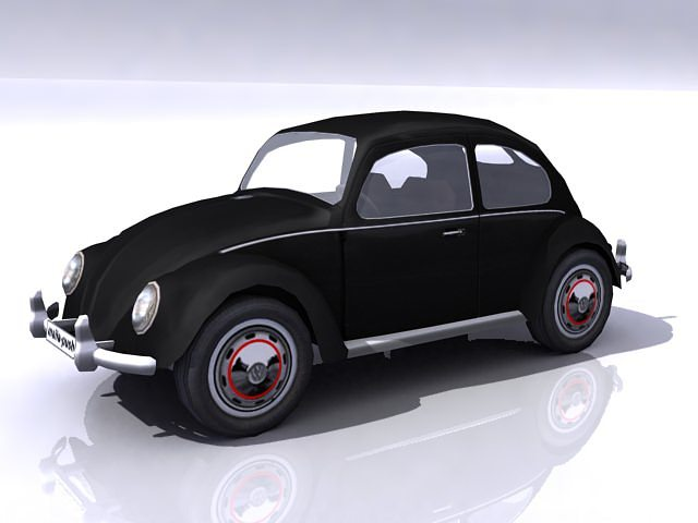 Vw Beetle Split Window 3d Model Max Obj 3ds Cgtrader Com