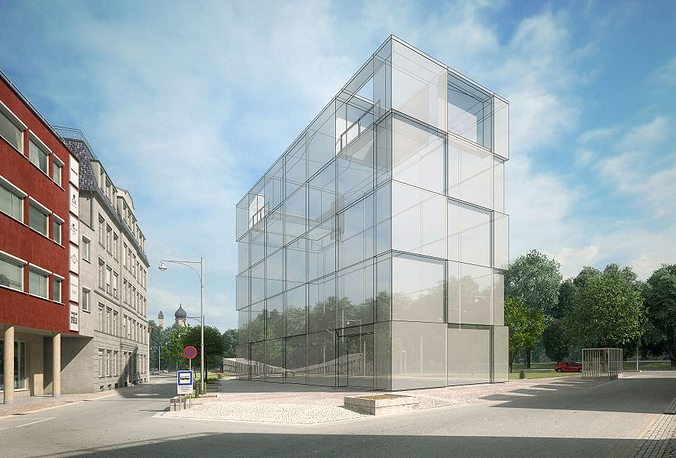 contemporary office building. Contemporary Office Building 3D Model L