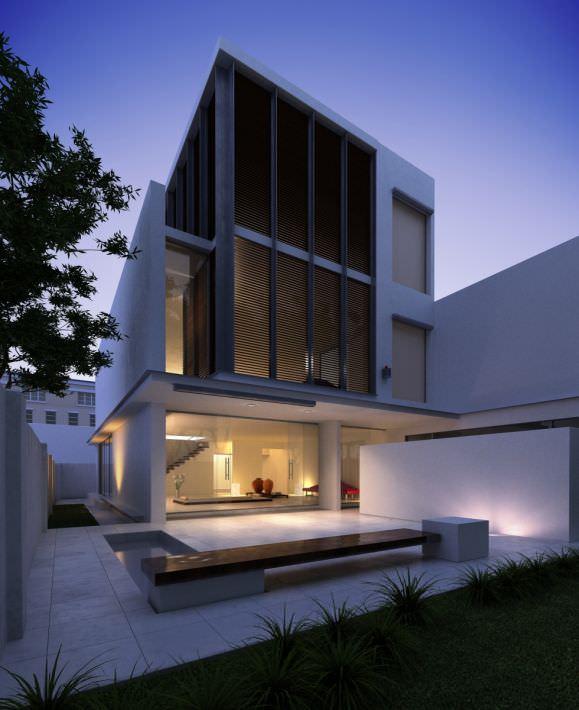 three floor building designs 3d model modern three floor house cgtrader