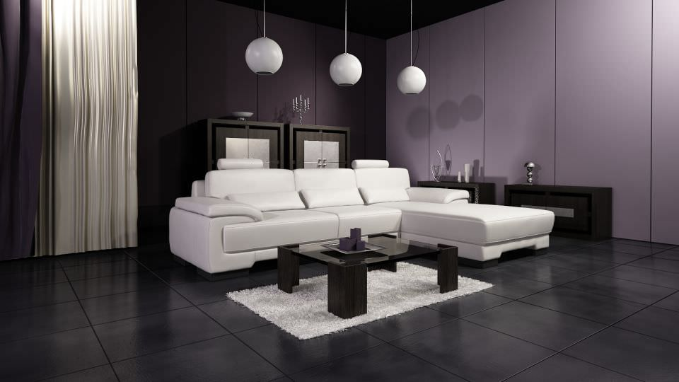 ... Living Room With Modern Interior Design 3d Model Max 2
