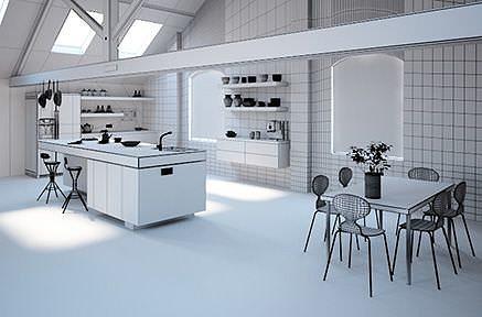 Modern Kitchen Design 3d Model Max 1 ...