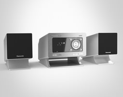 panasonic cd stereo system 3d model max obj fbx