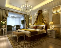 Luxurious Bedroom sleeping 3D model