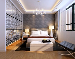 3D Luxurious Bedroom