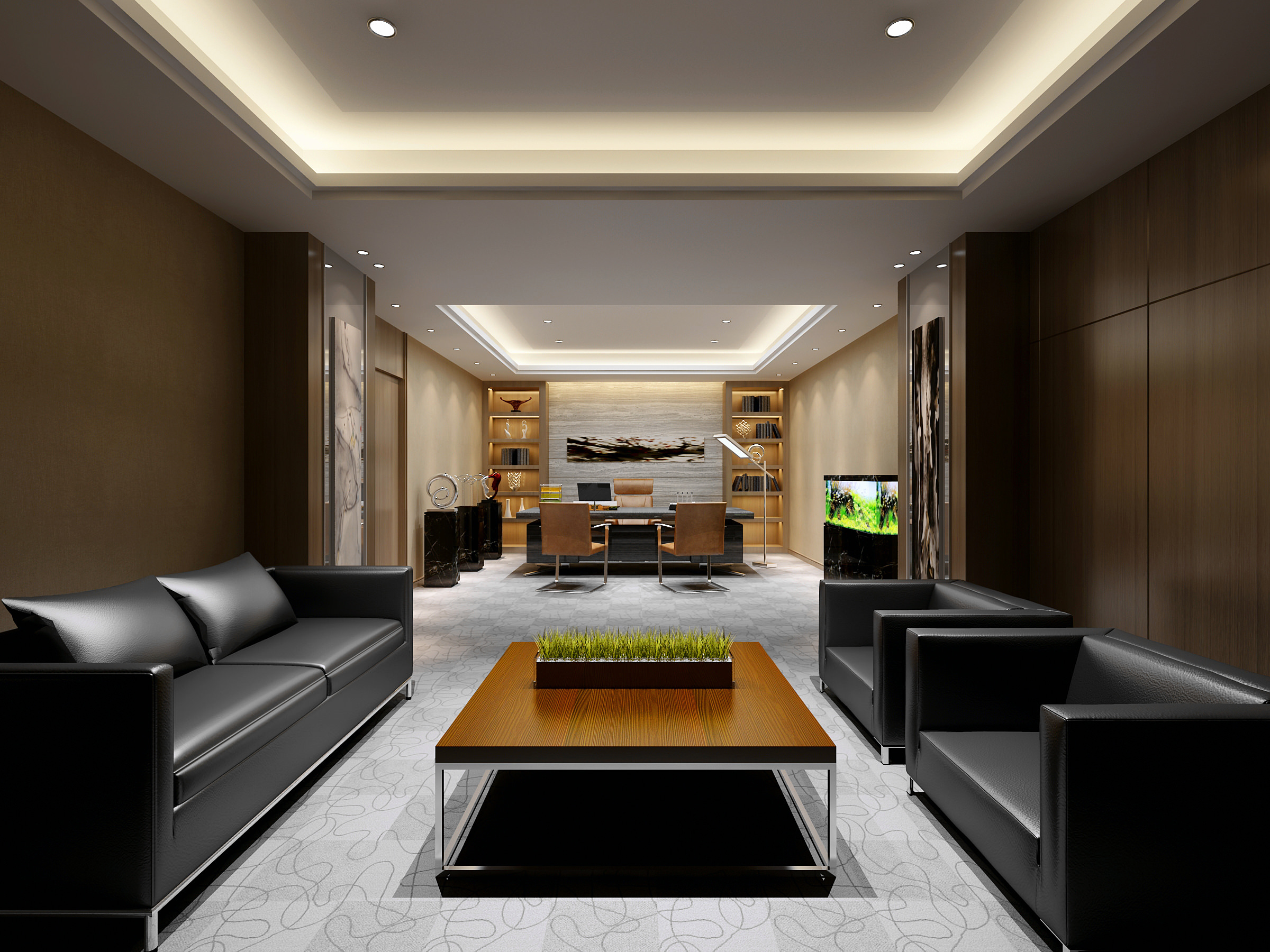 Luxurious Office Waiting Room With Marble Floor Fully Furnished Model Max 1