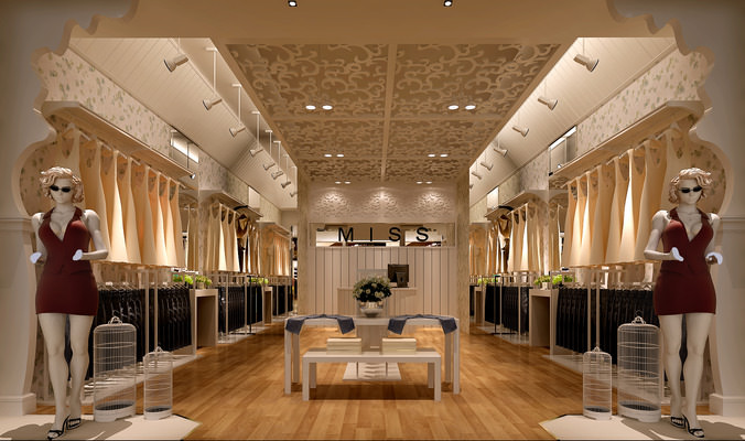 Clothes Store Interior 3d Cgtrader