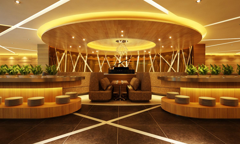 Modern restaurant room 3d model max for Restaurant 3d max