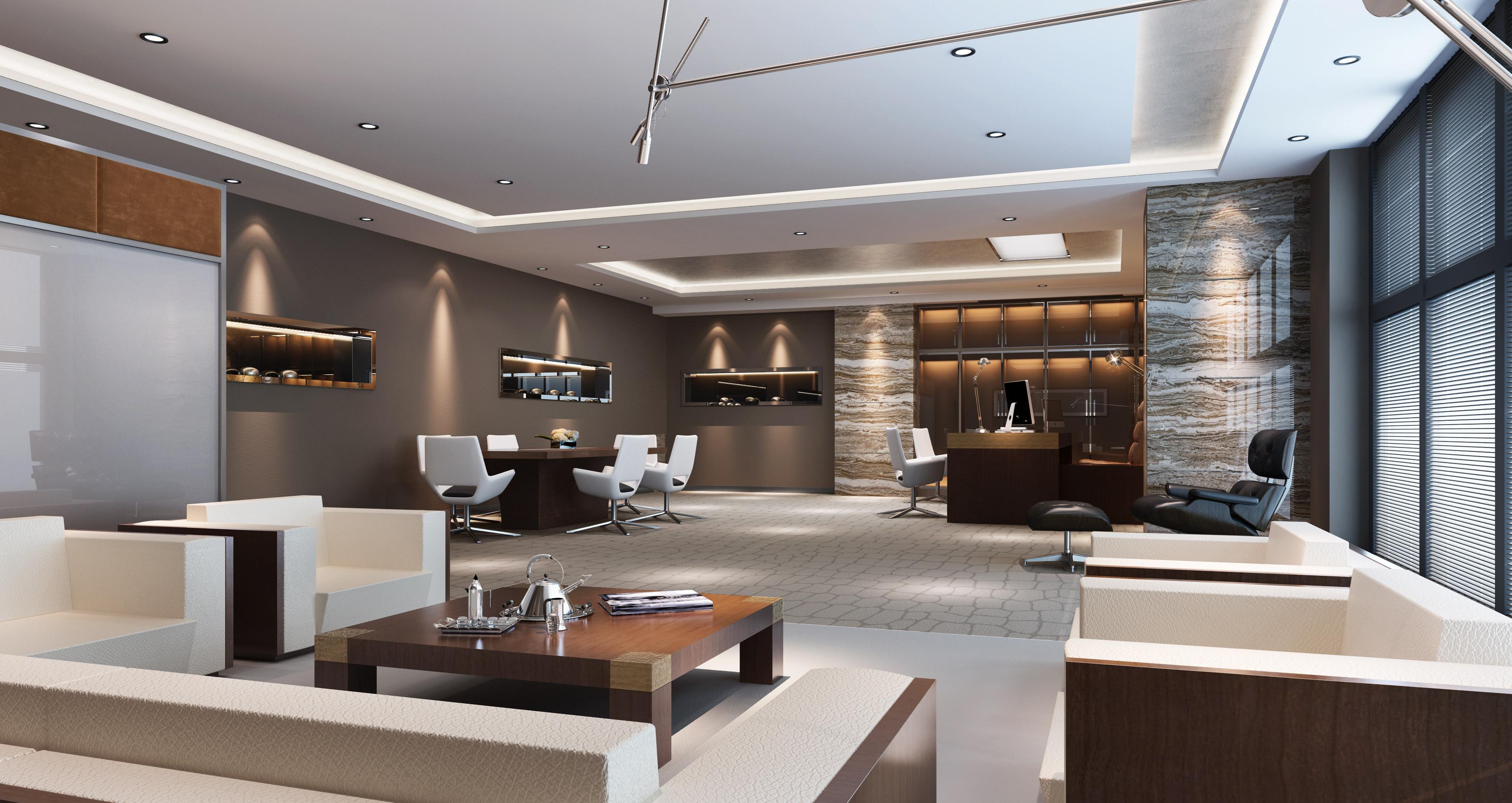 office room. Modern Office Room 3d Model Max 1 3