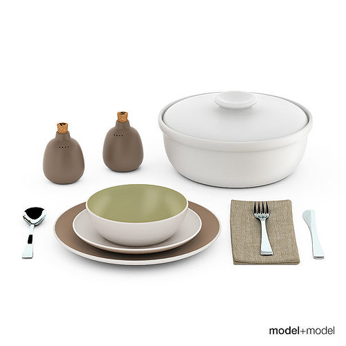 Heath ceramics dinnerware and flatware 3D model  sc 1 st  CGTrader & Heath ceramics dinnerware and flatware 3D model | CGTrader