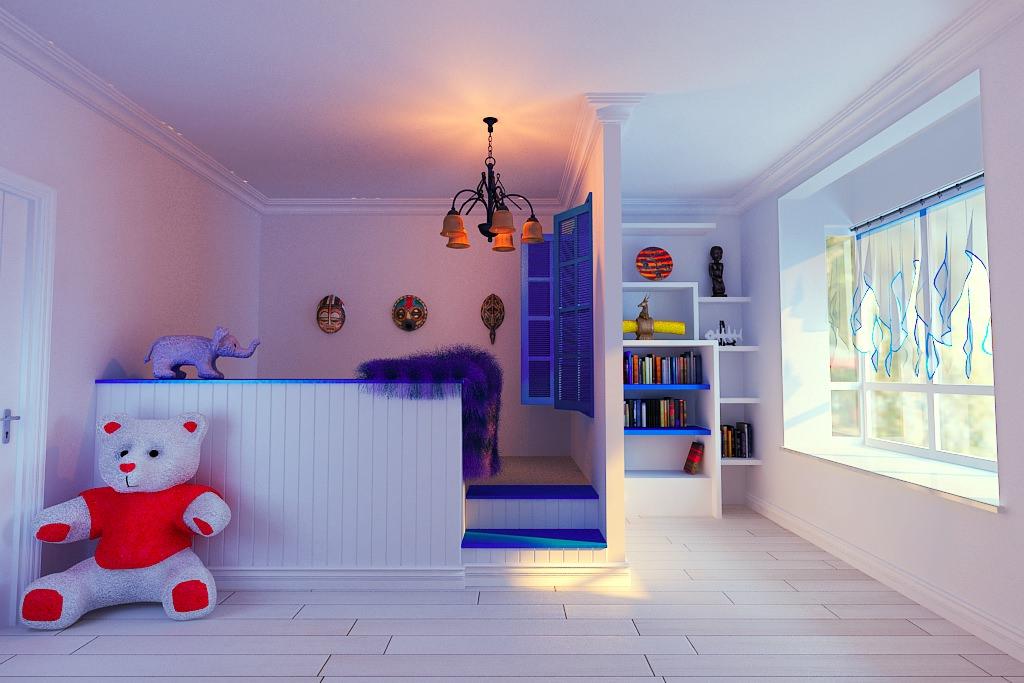 Modern Kids Playroom 3d modern kids playroom | cgtrader