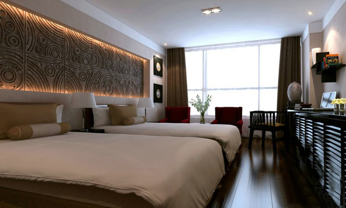 Modern Hotel Rooms 3d model collection modern hotel room