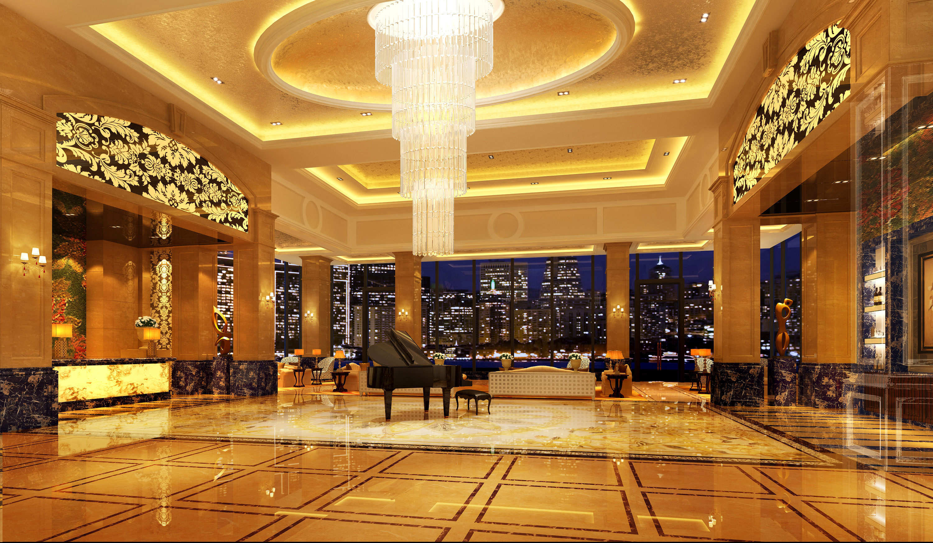 collection hotel interior collection 3d model max tga